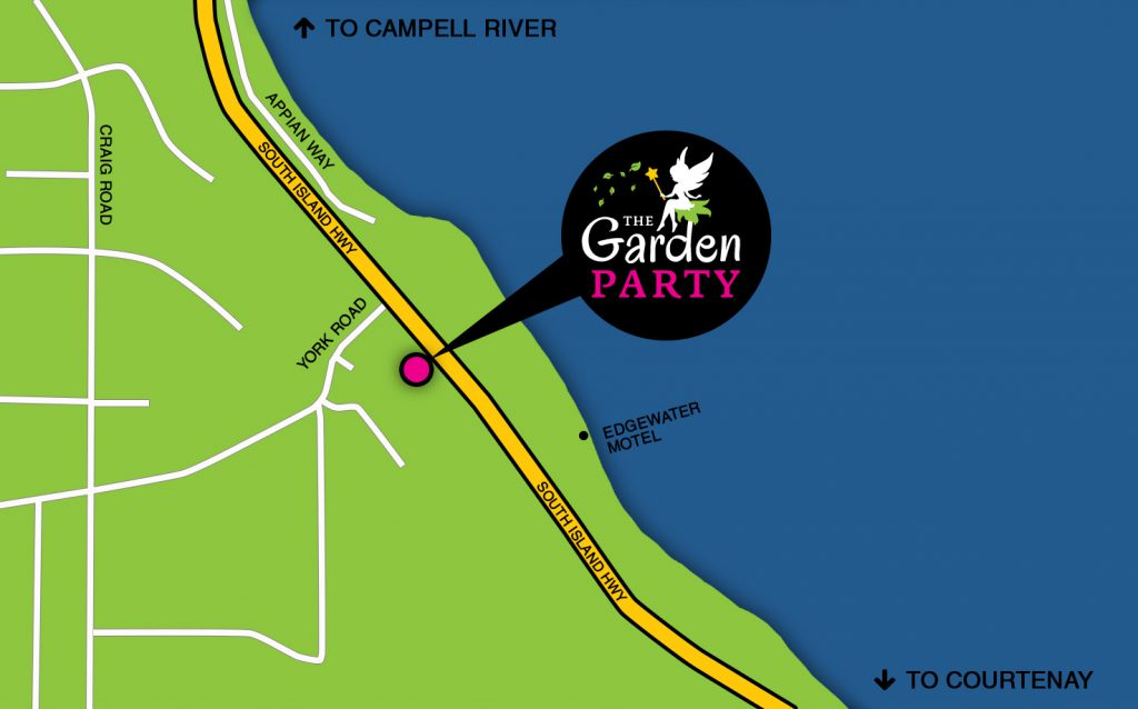 Map to The Garden Party